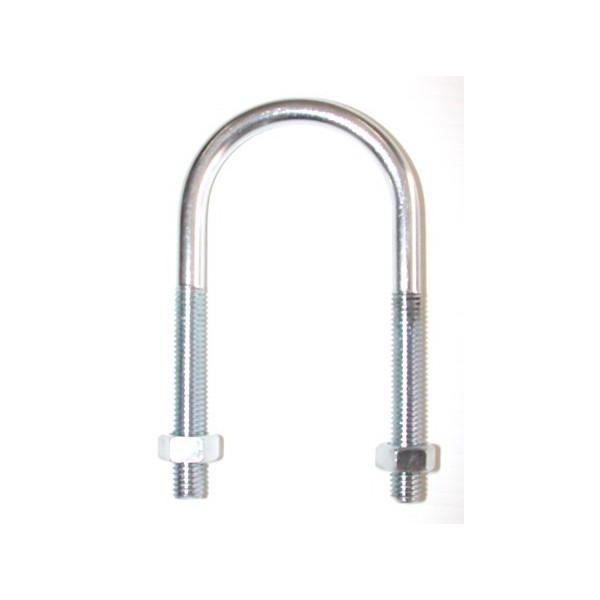 Etrier fileté pour tube normalisé de 10 x 63 inox A2 SN° 590-50