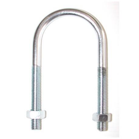 Etrier fileté pour tube normalisé de 8 x 45 inox A2 SN° 590-50