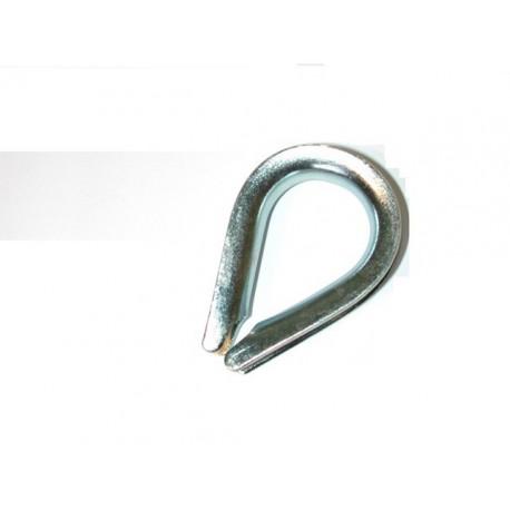 Cosse coeur galvanisée pour cable diamètre 6 SN° 142-1