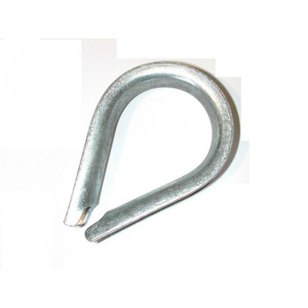Cosse coeur à grande ouverture galvanisée pour cable diamètre 14 SN° 144