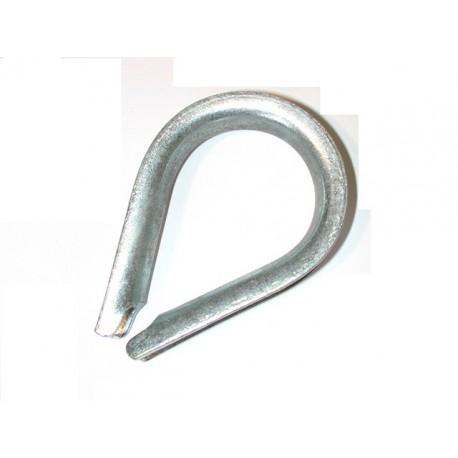 Cosse coeur à grande ouverture galvanisée pour cable diamètre 18 SN° 144