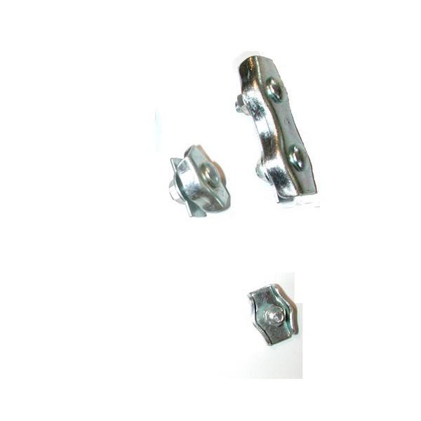 Serre câble plat à deux boulons de 4 galvanisé SN° 166-2