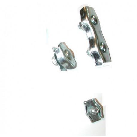 Serre câble plat à deux boulons de 8 galvanisé SN° 166-2