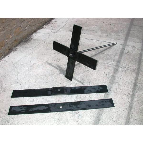 Clé de tirant en fer plat de 100 x10 longueur 1000 mm SN° 55 spe