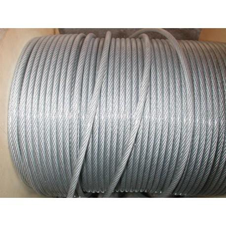 Câble galvanisé diamètre 6 avec gaine plastique de 8 mm longueur 50 métres SN° 678-1