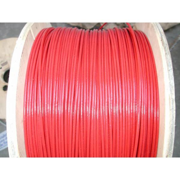 Câble d'arrêt d'urgence diamètre 3 avec gaine pvc rouge de 4 mm longueur 50 métres SN° 680