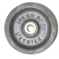 Réa acier de 100 chanvre usiné bague bronze  SN° 910 2