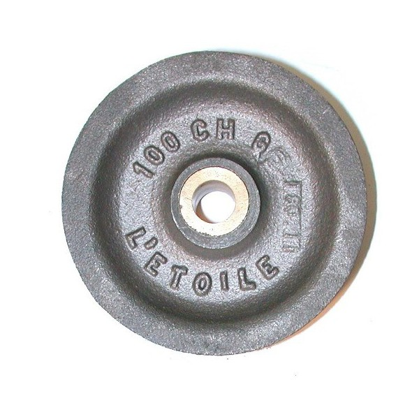 Réa acier de 127 chanvre usiné bague bronze SN° 910 2