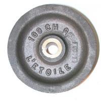 Réa acier de 152 chanvre usiné bague bronze  SN° 910 2