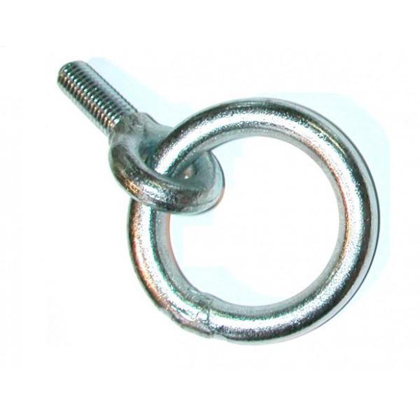 Piton tige courte avec anneau enfilé type 12C fileté SN° 623