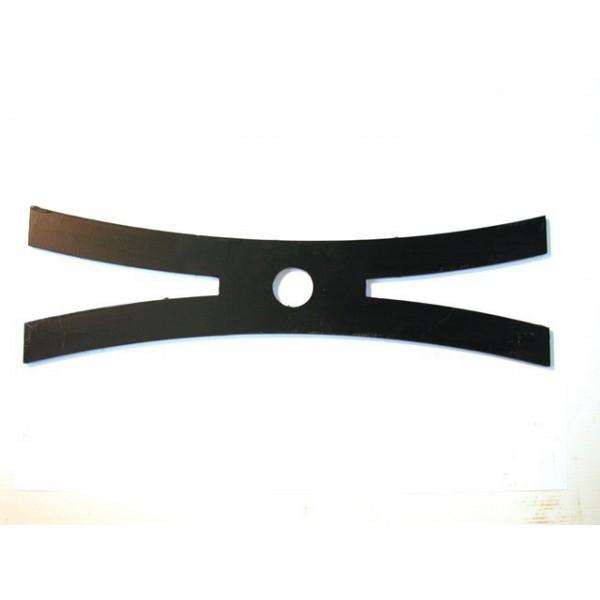 Clé de tirant en fer plat oxycoupé de largeur 120 x 10 longueur 400 mm SN° 55