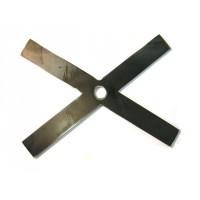 Clé de tirant en fer plat oxycoupé  de largeur  300 x 6 longueur 400 mm   SN° 55