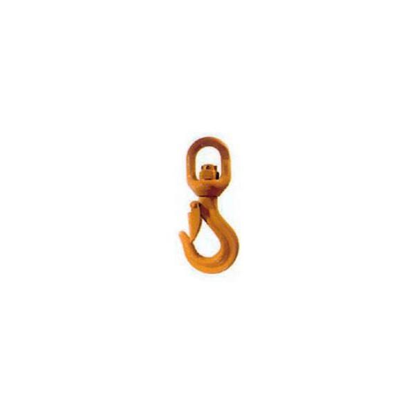 Crochet à émerillon à linguet de sécurité pour chaîne de 10 SN°690-008