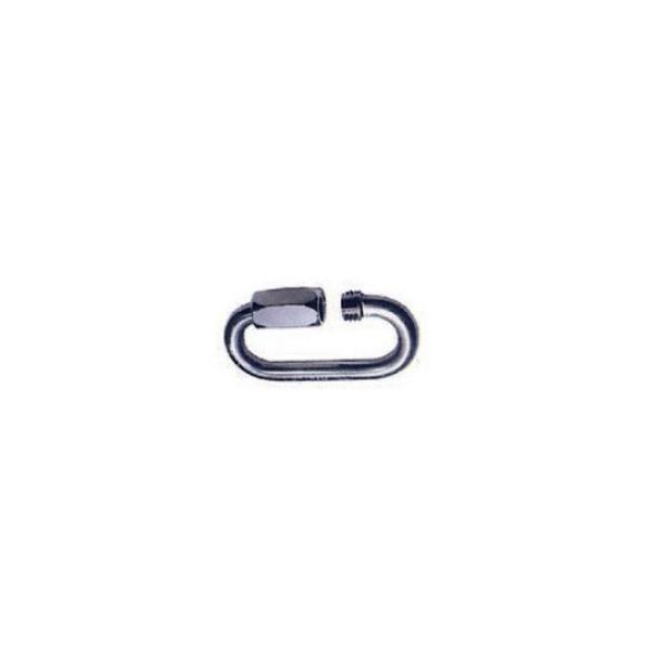 Maillon rapide ovale de 6 inox SN°186