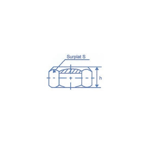 Ecrou six pans à taraudage ISO Diamètre 12 Autofreinant SN° 514