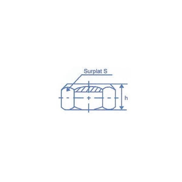 Ecrou six pans à taraudage ISO Diamètre 16 Autofreinant SN° 514