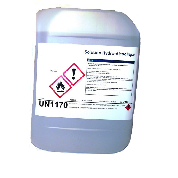 Solution Hydro-Alcoolique bidon de 10 litres