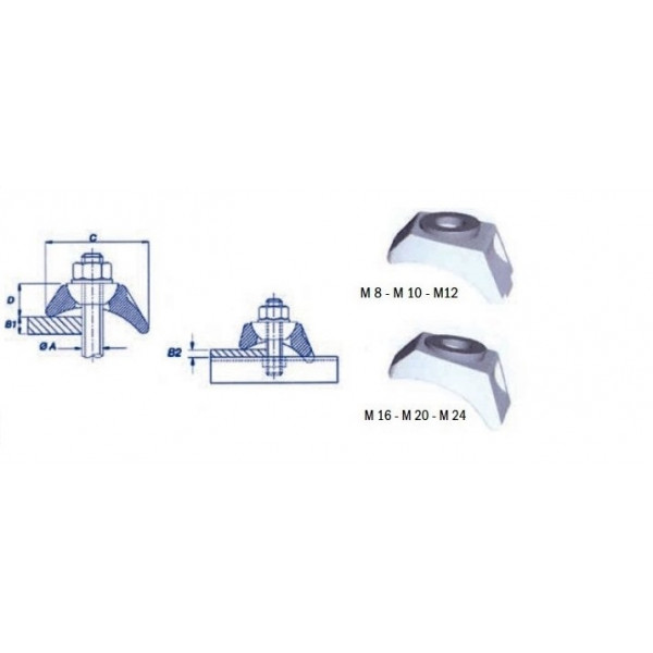 Crapaud auto-ajustable BK1 M 08 SN° 575 BKI