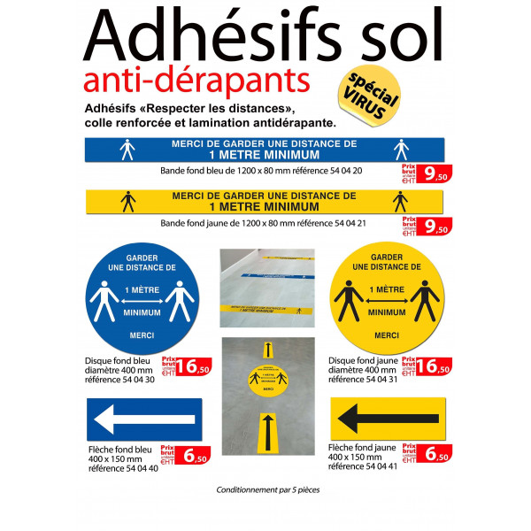 ADHESIFS SOL ANTI -DERAPANTS SN° ADHESIFS SOL