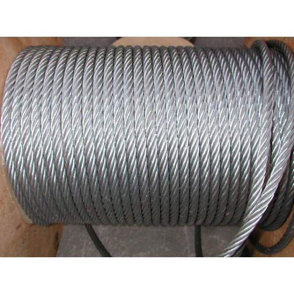 Métre de câble en acier galvanise diamètre 6 SN° 678