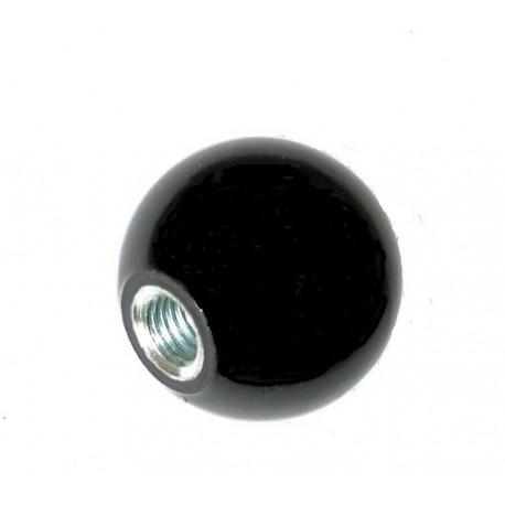 Boule en bakélite diamètre 20 taraudée à 6 iso SN° 822