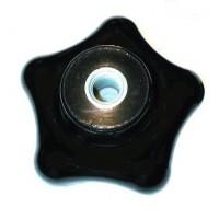Bouton en forme d'étoile en bakélite  diamètre 40 taraudé à 6 iso   SN° 826-0