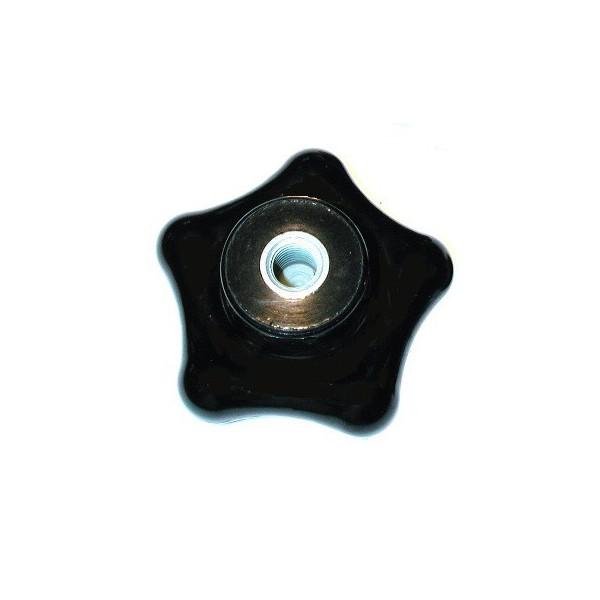 Bouton en forme d'étoile en bakélite diamètre 80 taraudé à 12 iso SN° 826-0