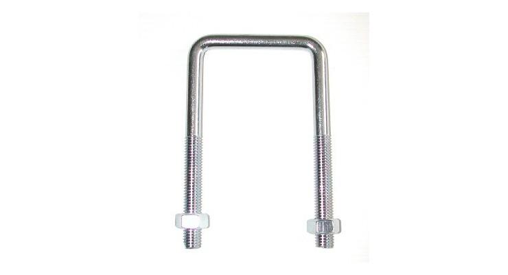 Etriers filetés à fond droit  pour tubes carrés  SN° 582