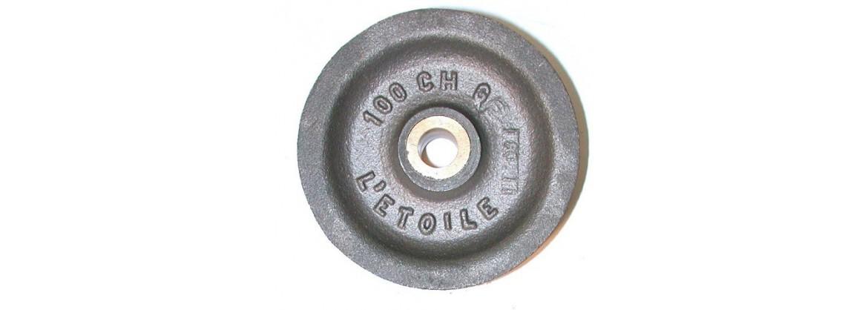 Réa en acier ,bague bronze pour cordage SN° 910 2