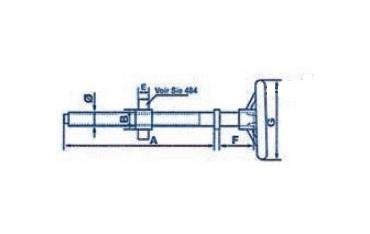 Ensemble de serrage avec volant blanchi SN° 468-2