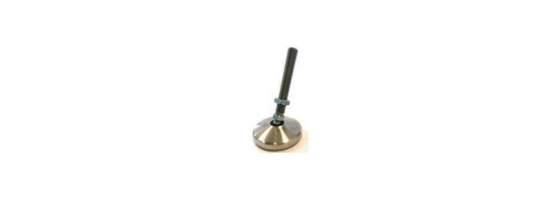 Pied articulé de calage inoxydable à embase tournante SN°455-5