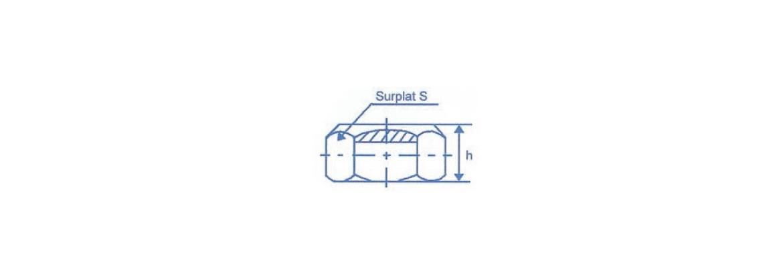 Ecrou six pans à taraudage ISO Autofreinant SN° 514