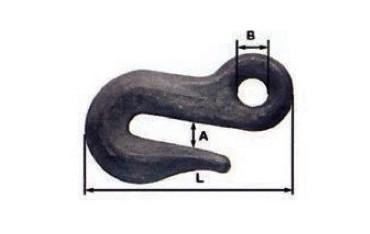 Crochet de chaine à section losange SN° 382