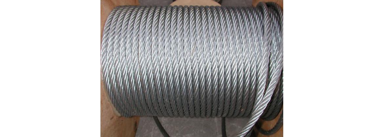 Métre de câble en acier galvanisé conditionné en rouleau SN° 678